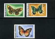 BUTTEFLIES  OF MALVIDES,-BRAHMACA,-TEINOPALPUS,-CETHOSIA BIBLIS, MNH 70s