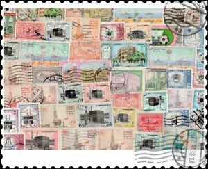 Saudi Arabia : 50 Different Stamps Collection