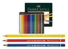 24PCS Faber-Castell Pencils Color Polychromos Tin Professional Art Office noo