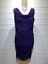 Phase Eight Wriggle Dress ~ Size 12 ~ Purple ~ Sleeveless - Party Wedding ~ 1908