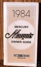 1984 Mercury Marquis Owners Manual