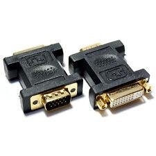 VGA Male to DVI-I Female Socket Adapter -Analogue Video Monitor Converter 15 Pin