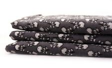 1/2.5 Yard Indian Dressmaking Fabric Cotton Grey Flower Print Home Decor Craft