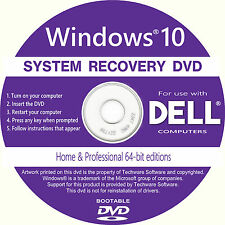 DELL Desktop Laptop Computer Recovery Repair Restore Boot *DVD* for Windows 10