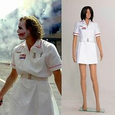 Batman Joker Nurse White Uniform Dress Coat Cosplay Costume *Tailored*