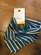 Seasalt Tranquil Linen-Cotton Scarf Geo Collage Verte