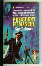 PRESIDENT FU MANCHU by Sax Rohmer, Pyramid #F946 Asian crime gga pulp vintage pb