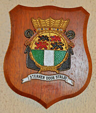 Hr Ms Rotterdam plaque shield crest destroyer Dutch Navy Netherlands gedenkplaat