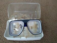 Tusa Liberator Dive Mask Prescription -4.0 NWOB Case Low Profile USA Shortsight