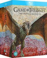 Game of Thrones Seasons 1-6 Box Set Blu-Ray BRAND NEW Free Shipping
