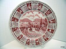Vintage Alfred Meakin Staffordshire Plate 1979 Zodiac Red