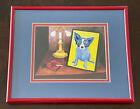 "George Rodrigue Blue Dog Print ""Artist"" Matte And Framed 11 1/4"" X 9 1/4"""