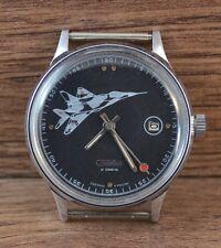 RARE Men`s WATCH SLAVA MIG-29 SOVIET USSR RUSSIAN Original