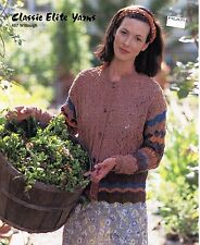 Classic Elite KNITTING PATTERN #457 Herb Garden Cardigan - Women - Experienced