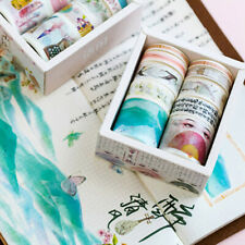 Hot 10Rolls Washi Tape DIY Decorative Scrapbooking Paper Adhesive Sticker Craft
