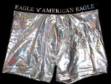 MENS AMERICAN EAGLE CLASSIC TRUNK METALLIC SILVER BOXER BRIEF SIZE XL (40/42)