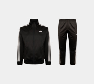 Mens Adidas Originals Firebird Tracksuit Full Jacket Top Bottoms Pants Black