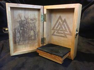 Norse God Odin Portable Travel Altar Box