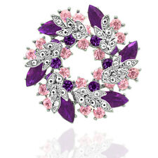 Alluring Shiny Women Christmas Party Purple Coat Table Decoration Brooches