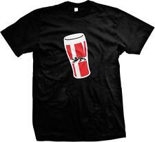 Danish Flag Beer Pint Glass- Coat of Arms- Denmark Country Pride Mens T-shirt