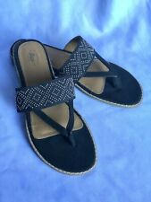 "Bass ""TANYA"" Sandals Navy Womens Size 9.5 M 0200-3490-001"