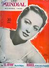 1945 OLIVIA DE HAVILAND CINE MUNDIAL  MOVIE MAGAZINE