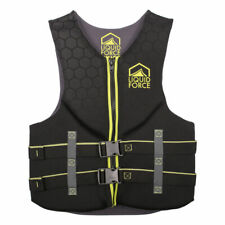Liquid Force MEDIUM Hinge Mens Black Green Neoprene Life Jacket Wakeboard Vest M