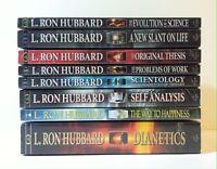 Lot 8 Scientology books by L. Ron Hubbard (PB) Dianetics, Self Analysis_SEALED
