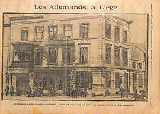 Artillerie Deutsches Heer Bombardement de Liège Place de l'Université WWI 1914