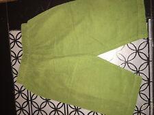 sz 12 m Custom green corduroy pants EUC pockets elastic waist