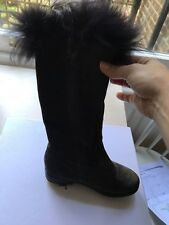 £380 ADORABLE BABY DIOR GIRLS FUR LINED BOOTS SIZE 27 US 10 UK 9.5
