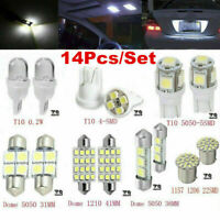 14PCS Car LED Interior Package for T10 36mm Map Dome License Plate Lights Kit