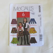 McCALLS Sewing Pattern M5696 girls flare SKIRT childrens size CHJ 7 8 10 12 14