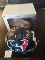Deshaun Watson Autographed Full Sized Auth Helmet Houston Texans W/ Beckett Coa