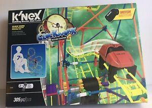 K'NEX Thrill Rides Clock Work Roller Coaster Building Set 305 Pcs Stem Toy New