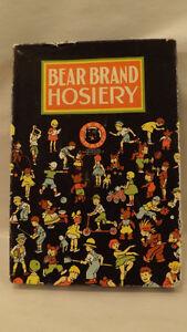 Vtg Bear Brand Hosiery Box (only) Childrens Socks/Stockings 1916 Art Deco