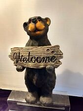 Welcome Resin Black Bear Brand New & Very Cute12in Tall