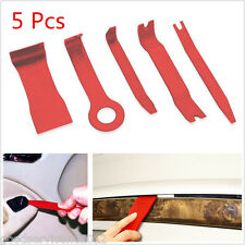 5 Pcs Professional Red Nylon Car SUV Trim Door Panel Dash Pry Open Handhold Tool