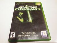 Star Wars: Obi-Wan (Microsoft Xbox, 2001) complete CIB tested