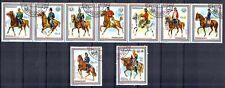 Chevaux Paraguay (17) série complète de 9 timbres oblitérés