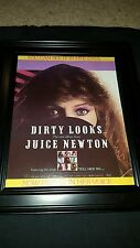 Juice Newton Dirty Looks Rare Original Promo Poster Ad Framed!