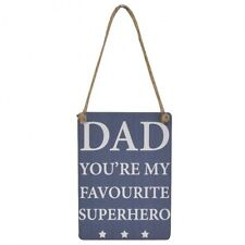 DAD YOU'RE MY FAVOURITE SUPERHERO MINI Metal Sign SMALL Plaque Family Parent