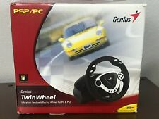Genius TwinWheel Vibration Feedback Racing Wheel for PS2 & PC Complete New