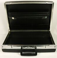 Vintage Black Hardshell JETLINER Attache Briefcase Flip Latches No Key Madmen