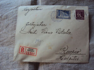 1942 ? Helsinki to Kuopia Registered Cover B