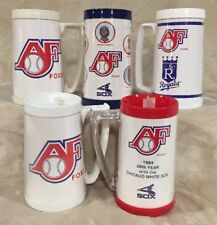 VTG Lot 5 Budweiser Appleton Foxes Plastic Thermo Serv Mugs Cups Timber Rattlers
