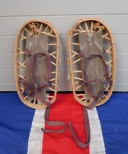 Antico VINTAGE Bear Paw Snowshoes SCI Chalet Lodge Hotel Mountain Prop