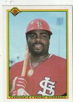 FREE SHIPPING-MINT-1990 Bowman Pedro Guerrero #201 CARDINALS PLUS BONUS CARDS