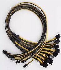 PCI Express 6 pin to (2x) 6+2pin power cable 90cm 16AWG | BTC ETH GPU Mining