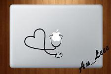 Macbook Air Pro Vinyl Skin Sticker Decal Doctor Medicine Stethoscope Love M227